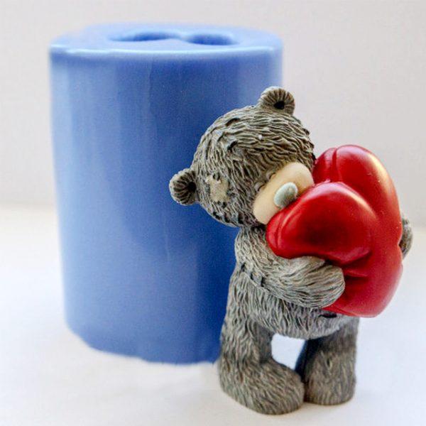 3D мыло «мишка с сердцем»