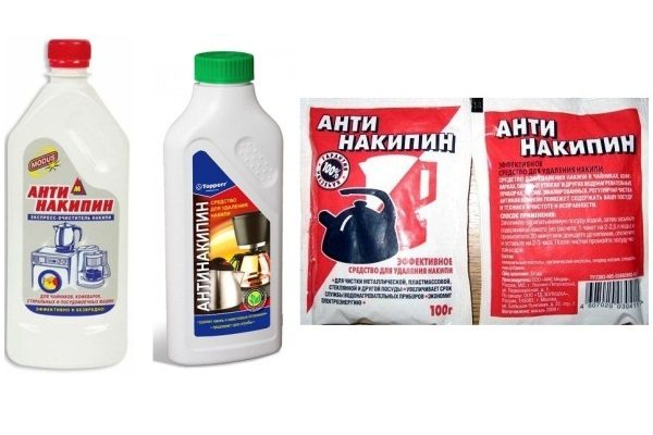 Антинакипин в бутылке и упаковке
