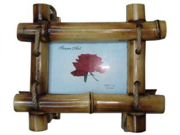Бамбуковая фоторамка из картона