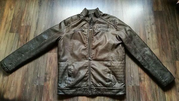 Кожаная куртка — первый этап разглаживания