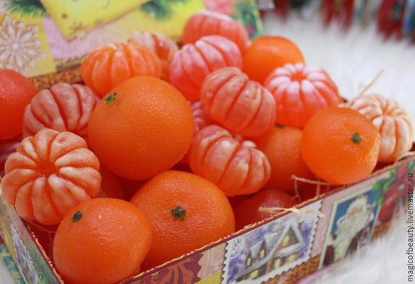 Мыло ручной работы «мандарин»