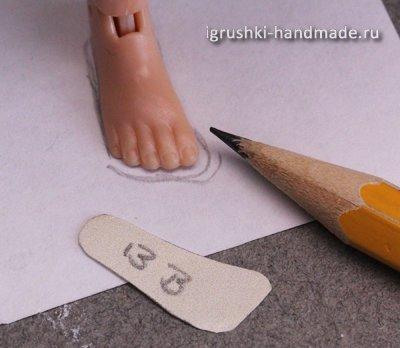 Перевод размеров стопы на бумагу
