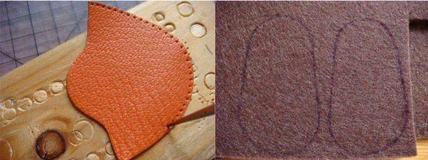 Подготовка деталей кожаных туфель