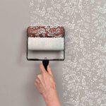 Покраска стен с узорами