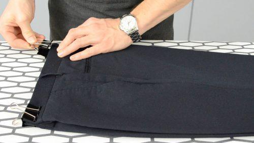 Как зафиксировать пояс брюк