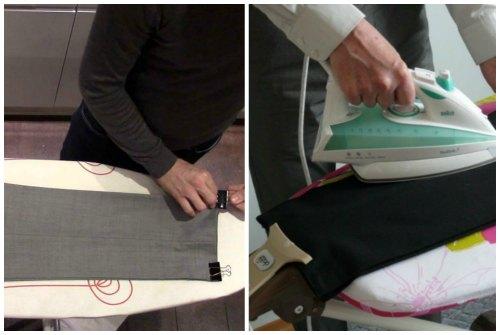 Как зафиксировать нижние края брюк
