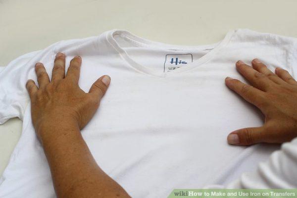 Разгладить футболку