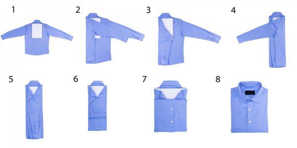 Схема сложения рубашки