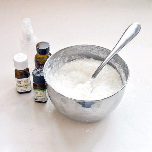 Смесь мыла с содой, перекисью и лимонной кислотой