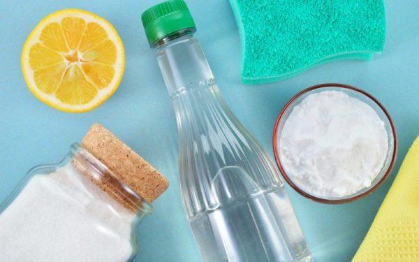Сода, уксус, лимон и лимонная кислота