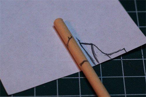 Создание каблука из деревянной палочки