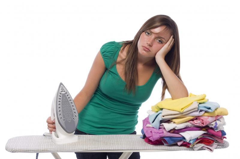 Устала гладить бельё