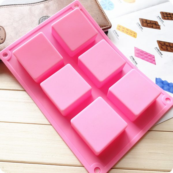 силиконовая квадратная форма для мыла