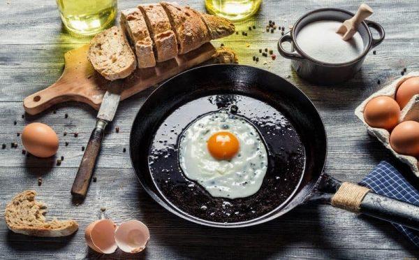 Яичница в сковороде