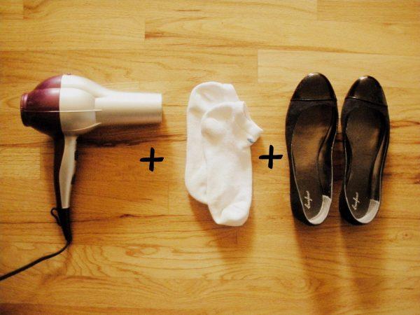Фен, носки, туфли