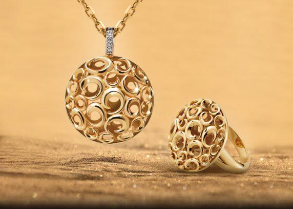 Кольцо и кулон из золота