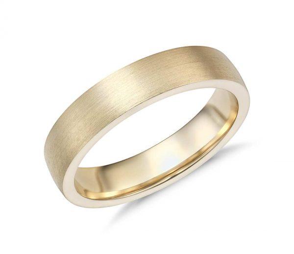 Кольцо из матового золота