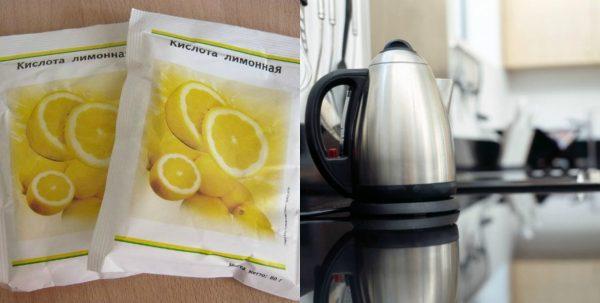 Лимонная кислота против накипи в чайнике