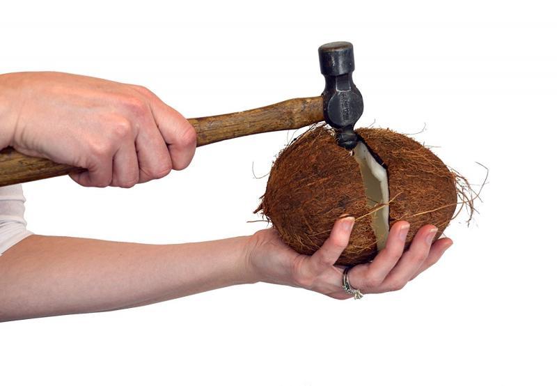 Как открыть кокос в домашних условиях