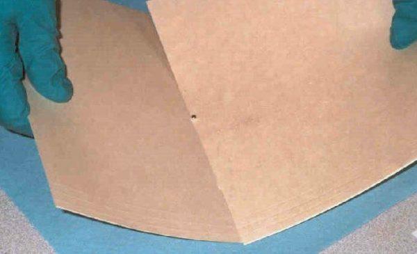 Ртуть на листе бумаги