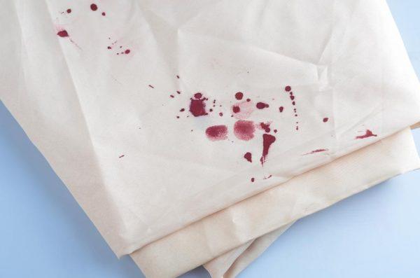 Старое пятно крови