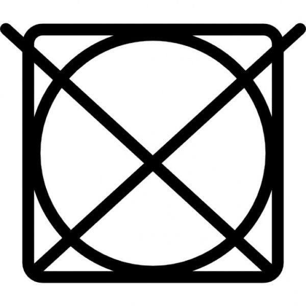 Знак, запрещающий машинную стирку