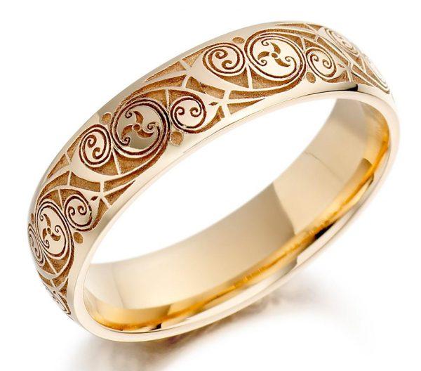 Золотое кольцо с узором