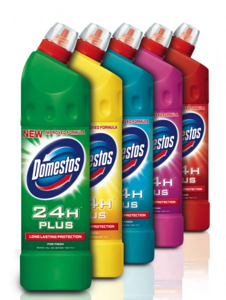 Бутылки Доместос «Двойная сила» в ассортименте