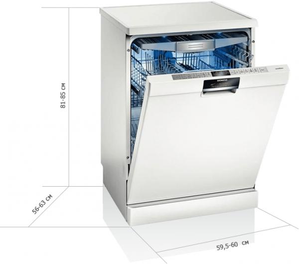 Габариты полноразмерной посудомоечной машины