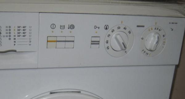 Механическая панель управления стиральной машиной