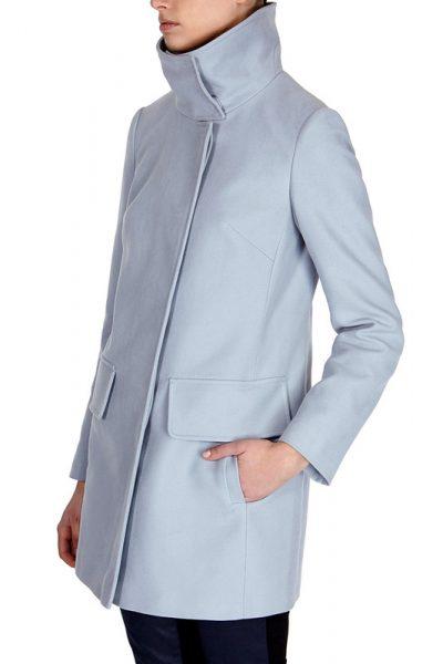 Пальто из молескина на модели