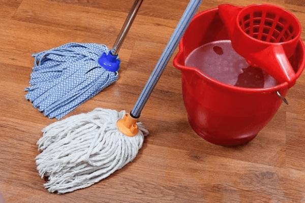 Верёвочная и ленточная швабры со специальным ведром