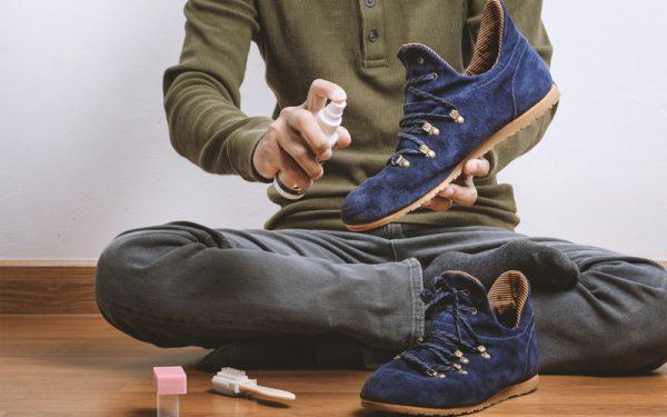 Чистка обуви перед помещением на хранение