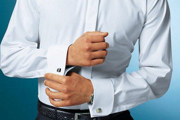 Рубашка с длинными рукавами и манжетами