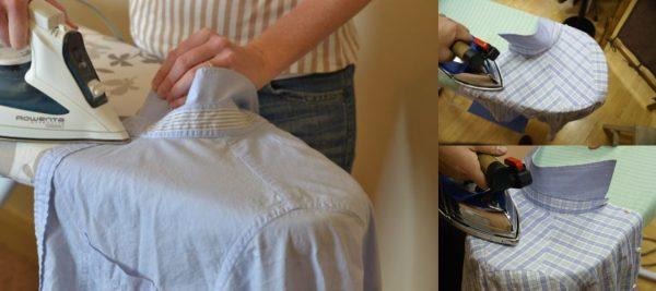 Глажка верхней части рубашки