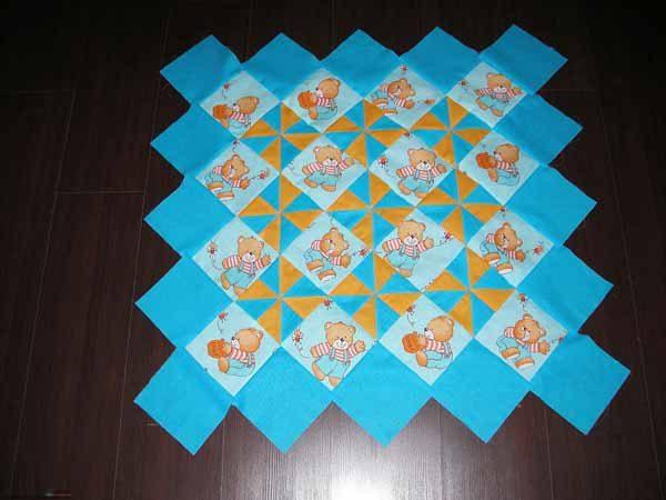 Готовая к сшиванию мозаика из лоскутов