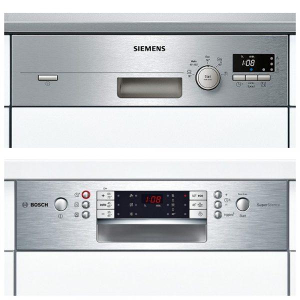 Панели управления посудомоечных машин