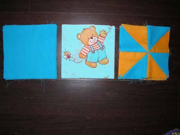 Подготовленные квадраты для лоскутного одеяла
