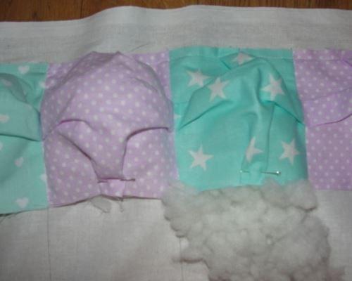 Постепенное наполнение одеяла