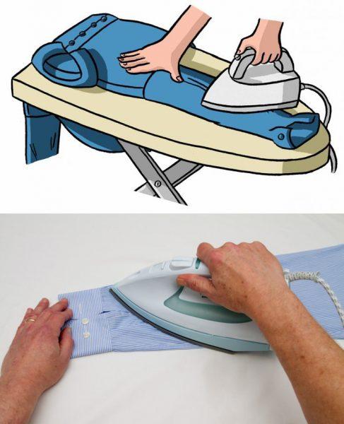 Проглаживание боковых частей рукава