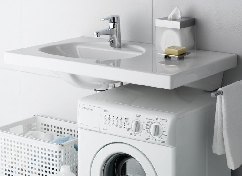 Раковина «кувшинка» над стиральной машинкой: виды, формы, установка