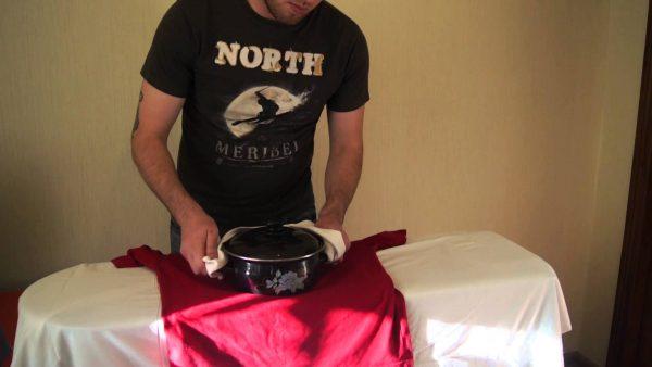 Способ погладить одежду без утюга