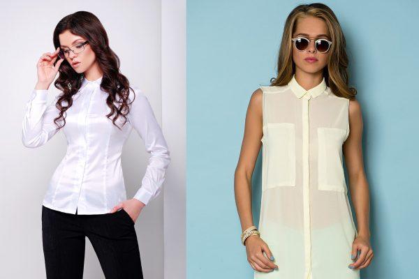 Вытачки и карманы на женских рубашках