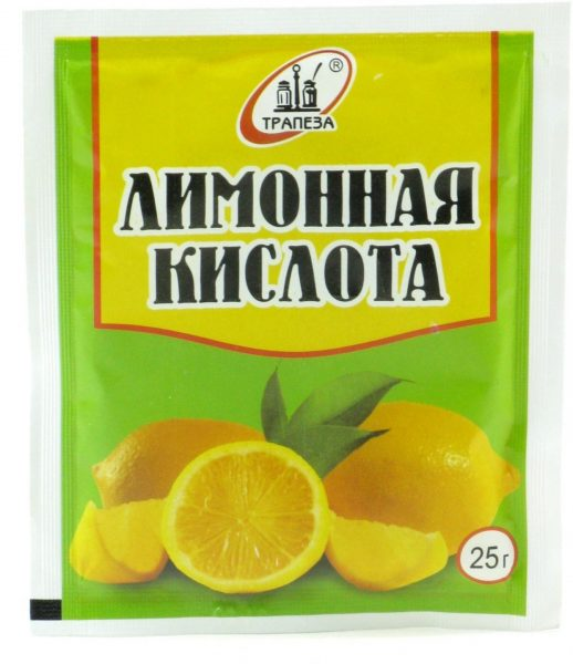 Лимонная кислота в упаковке