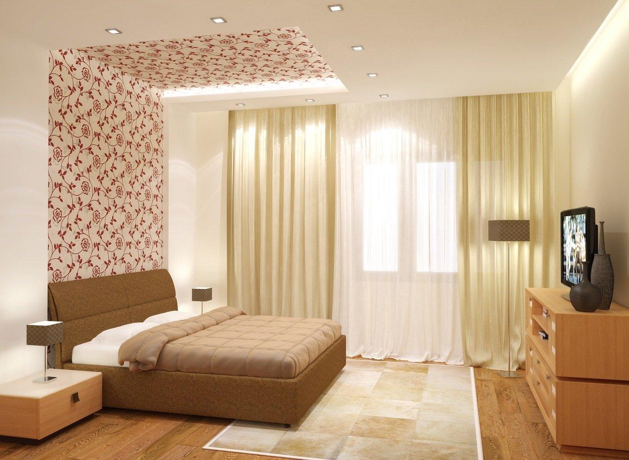 ремонт квартиры обои дизайн фото разные стены применению