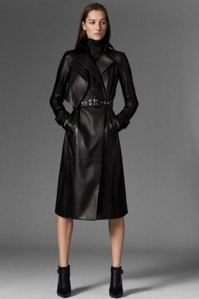 Пальто из кожи