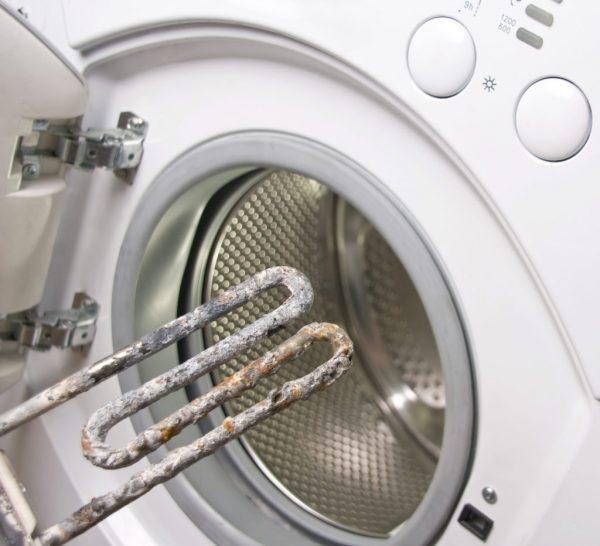 Перегоревший ТЭН стиральной машины
