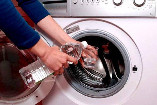 Применение уксуса для очистки машинки-автомат