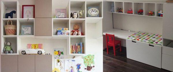 Детская с модулями-сотами для хранения игрушек