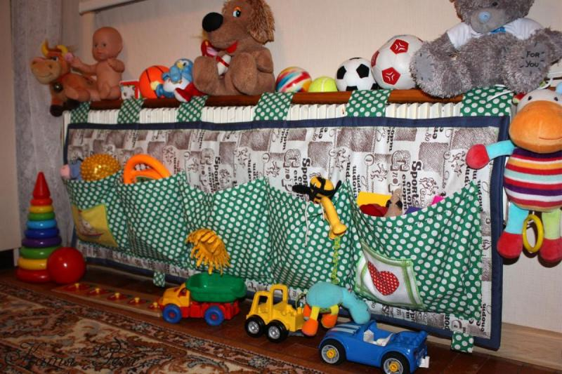 Кармашки для хранения игрушек